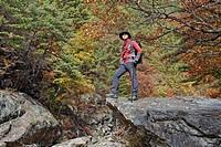 backpack, staff, maple, valley, baemsagol, baemsagol valley, Sannae_myeon, Namwon_si, Jeollabuk_do, korea, south korea, Oriental, Eastern people, asia...