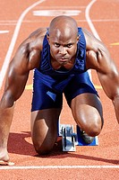 Track Athlete on starting block (thumbnail)