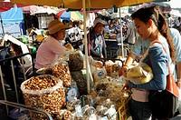 Woman street vendors, Chiang Rai, Thailand