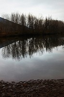 River Ebro landscape. Burgos. Spain