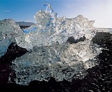 Ice formation close_up