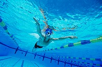 Man Swimming in Pool (thumbnail)