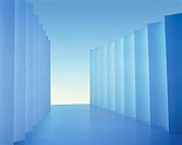 Corridor of blue partitions
