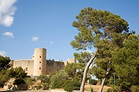 Spain. Balearic Islands. Palma de Mallorca. Bellver Castle is a Gothic style castle on a hill 3 km northwest of Palma on the Island of Majorca. It was...
