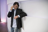 A man talking on his cell phone