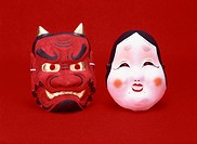 Image of traditional Japanese Setsuban Masks.
