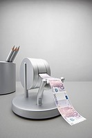 Machine printing Euro notes