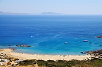 Panoramic view of Maganari beach, Ios island, Greece