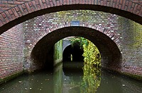 Holland, Limburg region, Den Bosch, round by boat on the Binnendieze channel, in the Den Bosch cellars