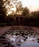 Butterstream Trim Co Meath, Roman Temple & Lily Pond, At Sunset Early Summer,