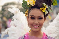 Woman in Flower Festival, Chiang Mai, Thailand