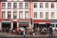 Outdoor cafe, Koblenz, Rheinland_Pfalz, Germany