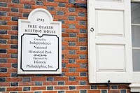 Free Quaker Meeting House, Independence National Historical Park, Philadelphia, Pennsylvania, USA