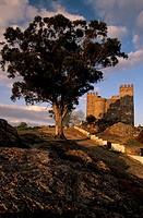 Cortegana Castle, Natural park of  Sierra de Aracena y Picos Aroche, Huelva, Spain / Castillo de Cortegana, P. Natural de la Sierra de Aracena y Picos...