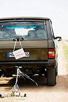 Just married sign on vehicle