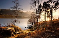 Cumbria, England, Lake scenic at sunrise