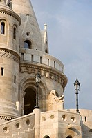 A newly restored section of the Fishermen´s Bastion, Budapest, Hungary, Europe