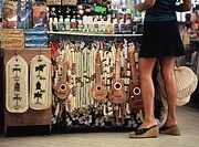 Souvenir shop, Tahiti, Society Islands, French Polynesia, South Pacific, Pacific