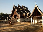 Wat Ton Kwen, a classic example of Lanna architecture, Chiang Mai, Thailand, Southeast Asia, Asia