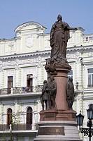 Catherine the Great statue, Odessa, Ukraine, Europe