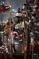 Floating Market, Bangkok, Thailand, Southeast Asia, Asia