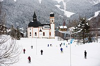 Cross country skiing, Seefeld ski resort, the Tyrol, Austria, Europe