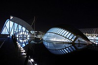 City of Arts and Sciences by Santiago Calatrava, Valencia. Comunidad Valenciana, Spain