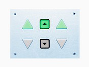 lift control panel with green control light