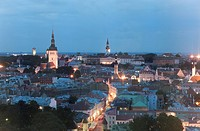 Skyline, Tallinn, Estonia, Baltic States, Europe