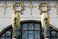 Am Steinhof church angels designed by Othmar Schimtowitz, Vienna, Austria, Europe
