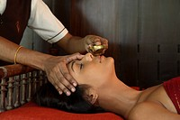 Nasyam Treatment at Ayurmana, Kumarakom in Kerala, India, Asia