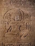 Brahma, Nanpaya temple, Bagan Pagan, Myanmar Burma, Asia
