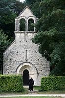 Notre Dame de Fontgombault Abbey chapel, Fontgombault, Indre, France, Europe