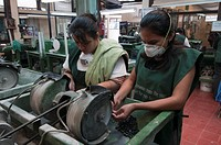 Women working in a jade factory, Jades SA, Antigua, Guatemala, Central America