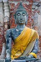 Buddha statue. Ayutthaya Historical Park. Ayutthaya city, Thailand