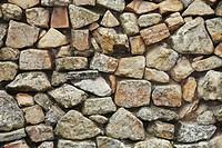 Stone wall,Mora de Rubielos, Teruel province, Spain