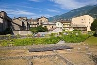 Roman ruins, Aosta, Aosta Valley, Italy