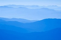 View from Clingman's Dome, Great Smoky Mountains National Park, Border of North Carolina and Tennessee