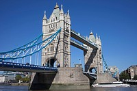 England, London, Tower Bridge and River Thames