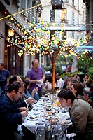 Outside dining at a restaurants on Jurnal Solak in Beyoglu