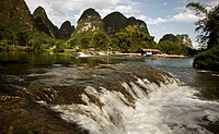 view of Guilin river, China