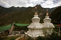 Tibetan temple in the mountains