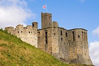 Warkworth Castle, Northumberland, England, UK