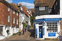 Mermaid Street, Rye, Sussex, England, UK