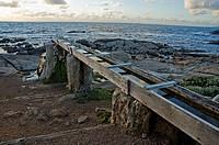 Old wooden waterwheel, Cape Leeuwin, Augusta, Western Australia, Australia