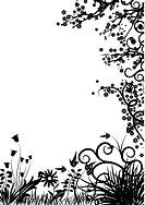 Floral frame, vector