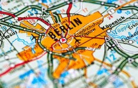 Map of Berlin Germany (thumbnail)