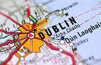 Map in Dublin Ireland (thumbnail)