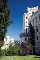 hluboka chateau, hluboka nad vltavou, czech republic
