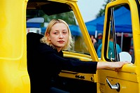 Girl in Yellow Truck